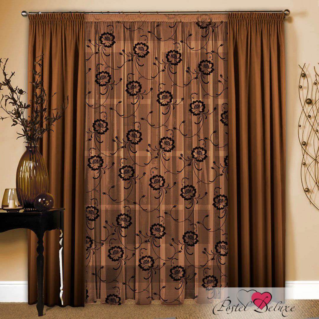 Шторы РеалТекс Классические шторы Cherette Цвет: Шоколад шторы реалтекс классические шторы alberta цвет персиковый молочный