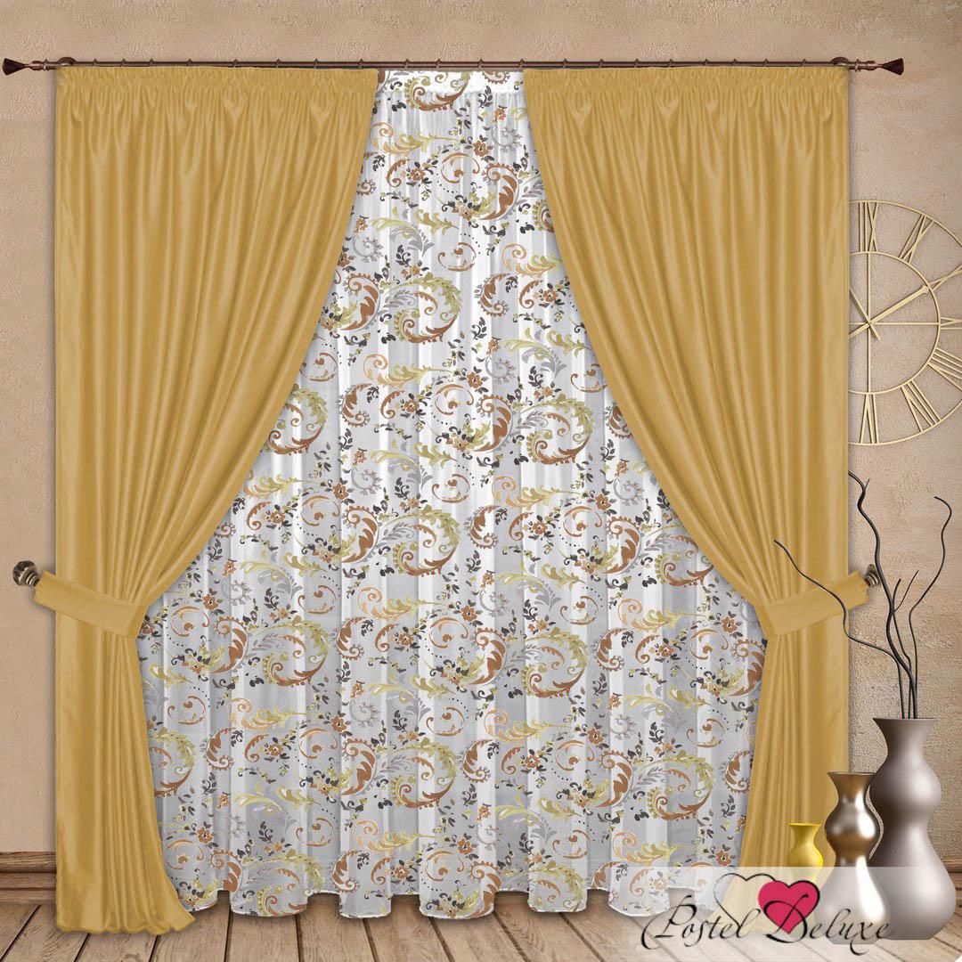 Шторы РеалТекс Классические шторы Jeremiah Цвет: Золото шторы реалтекс классические шторы alberta цвет персиковый молочный