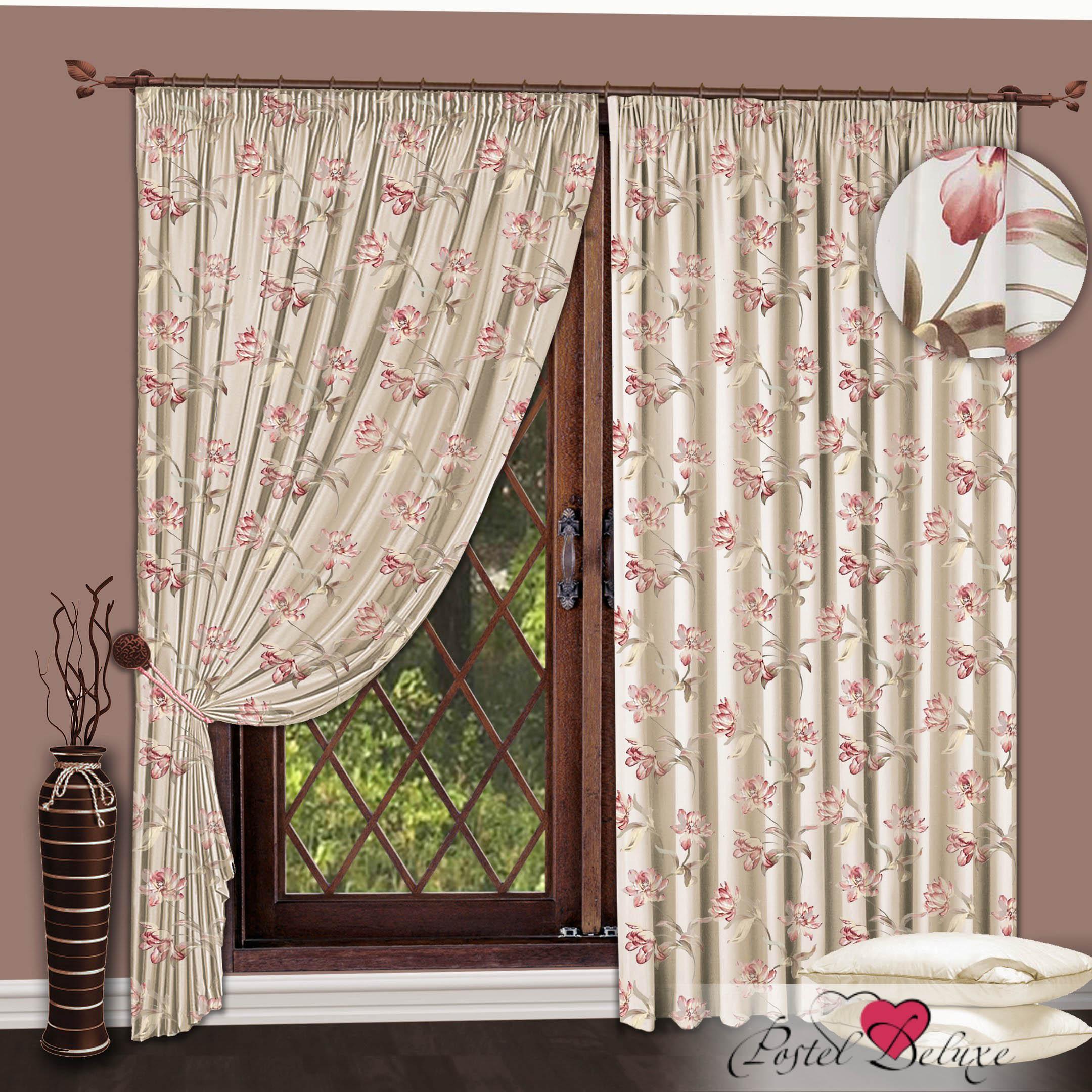 Шторы РеалТекс Классические шторы Цветы Цвет: Розовый шторы реалтекс классические шторы alberta цвет персиковый молочный