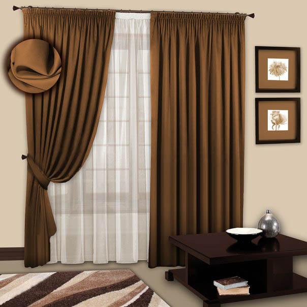 Шторы РеалТекс Классические шторы Chantalle Цвет: Шоколадный шторы реалтекс классические шторы alberta цвет персиковый молочный