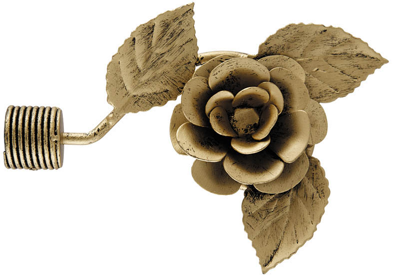 Карнизы и аксессуары для штор ARCODORO Карниз Ковка Роза Цвет: Золото Антик (160 см)