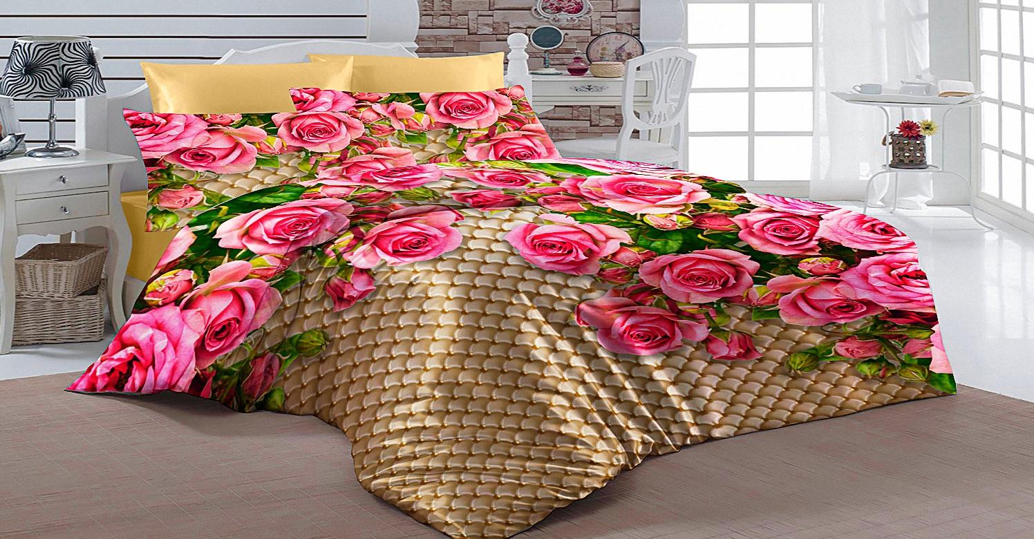 Постельное белье Elegante Постельное белье Розовый Сад (2 сп. евро) постельное белье мартекс постельное белье микрофибра 3d евро вишневый сад