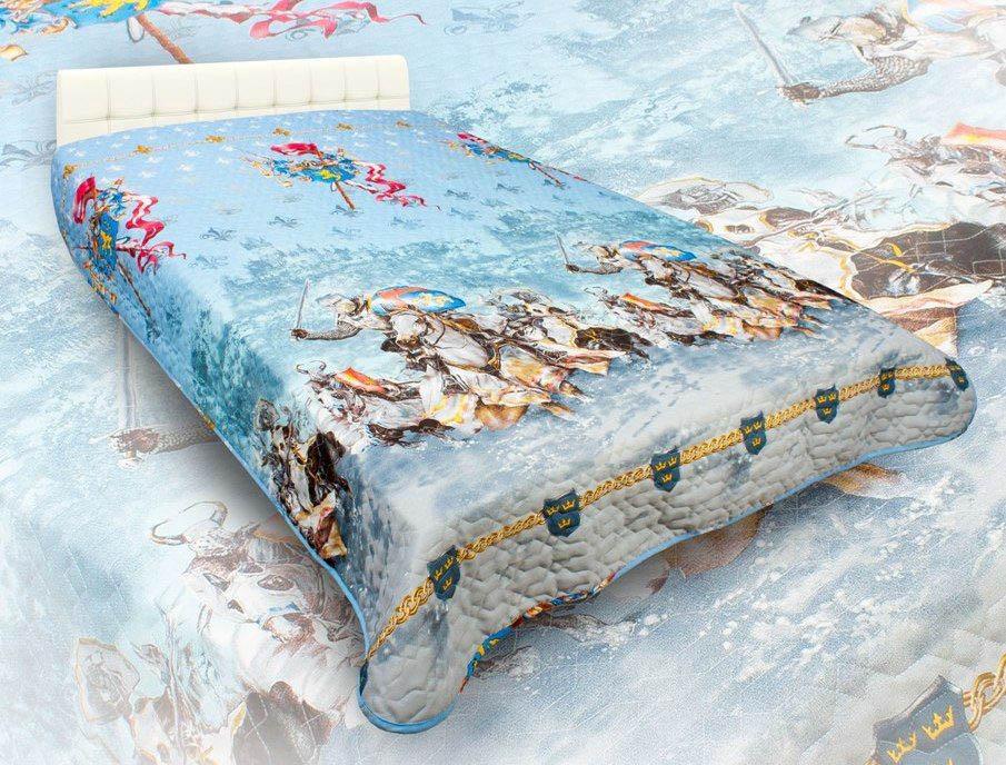 Детские покрывала, подушки, одеяла AlViTek Детское покрывало Рыцари (150х215 см) покрывало рафаэль поплин 150х215
