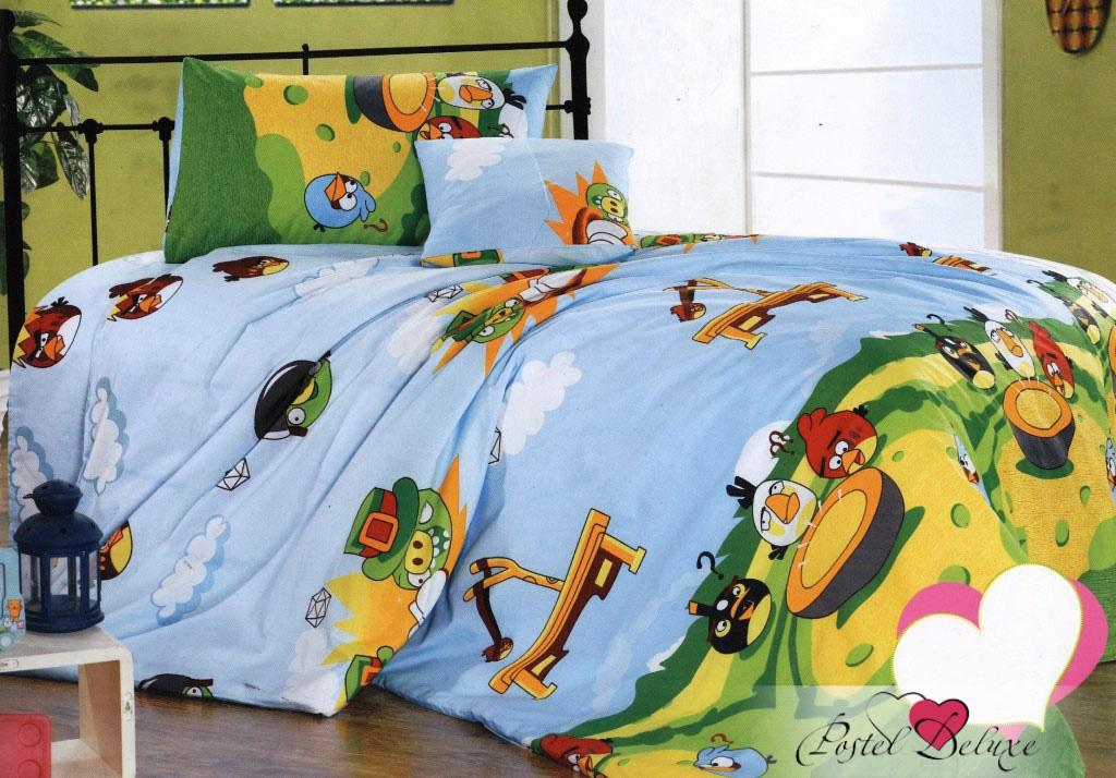 где купить Детское Постельное белье СайлиД Постельное белье Angry Birds С-50 (1,5 сп.) по лучшей цене