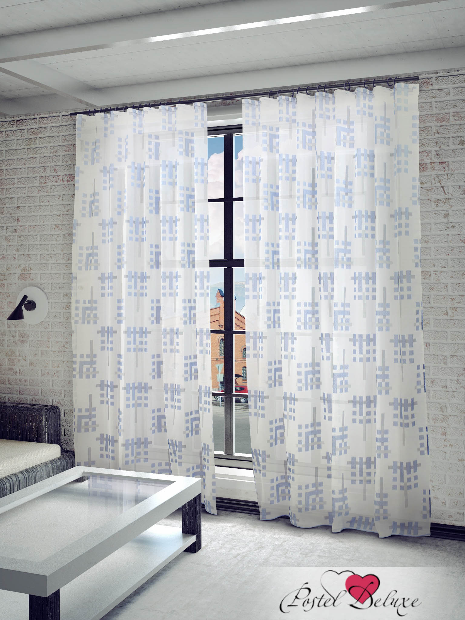Шторы Sanpa Классические шторы Квадро Цвет: Голубой шторы tac классические шторы winx цвет персиковый 200x265 см