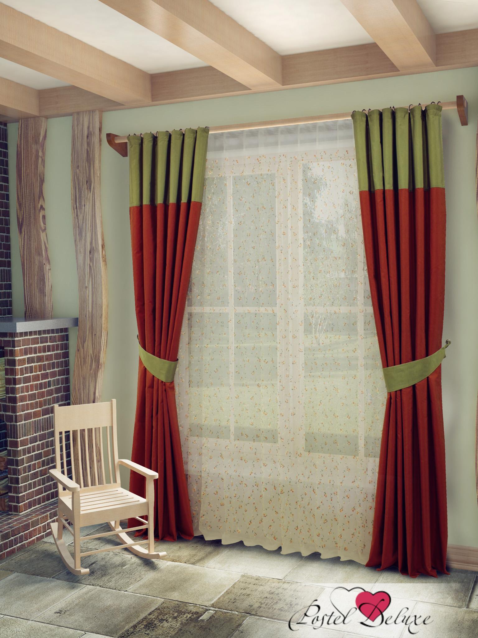 Шторы Sanpa Классические шторы Берна Цвет: Зелено-Терракотовый шторы tac классические шторы winx цвет персиковый 200x265 см
