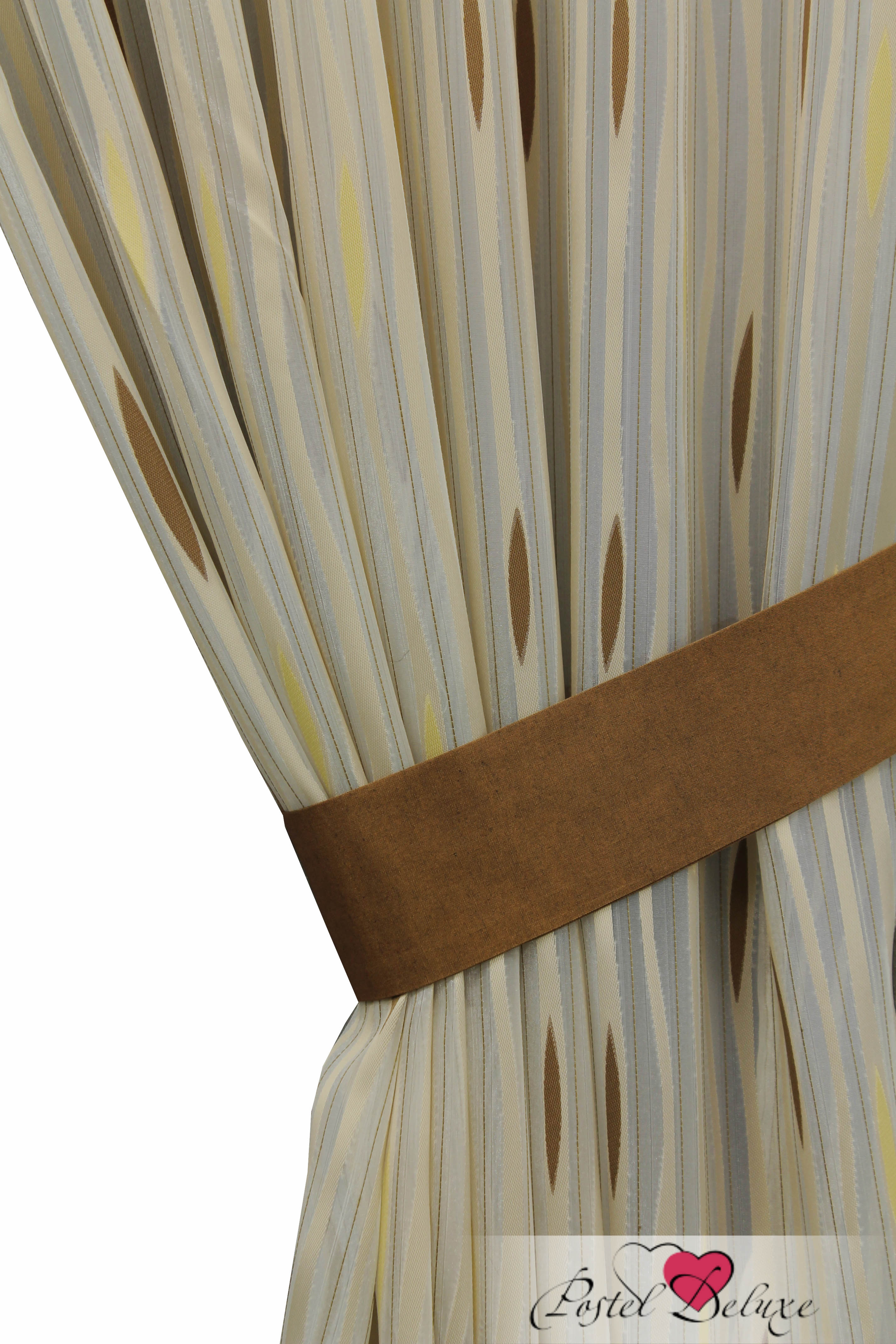 Шторы Sanpa Классические шторы Делис Цвет: Бежево-Коричневый шторы tac классические шторы winx цвет персиковый 200x265 см