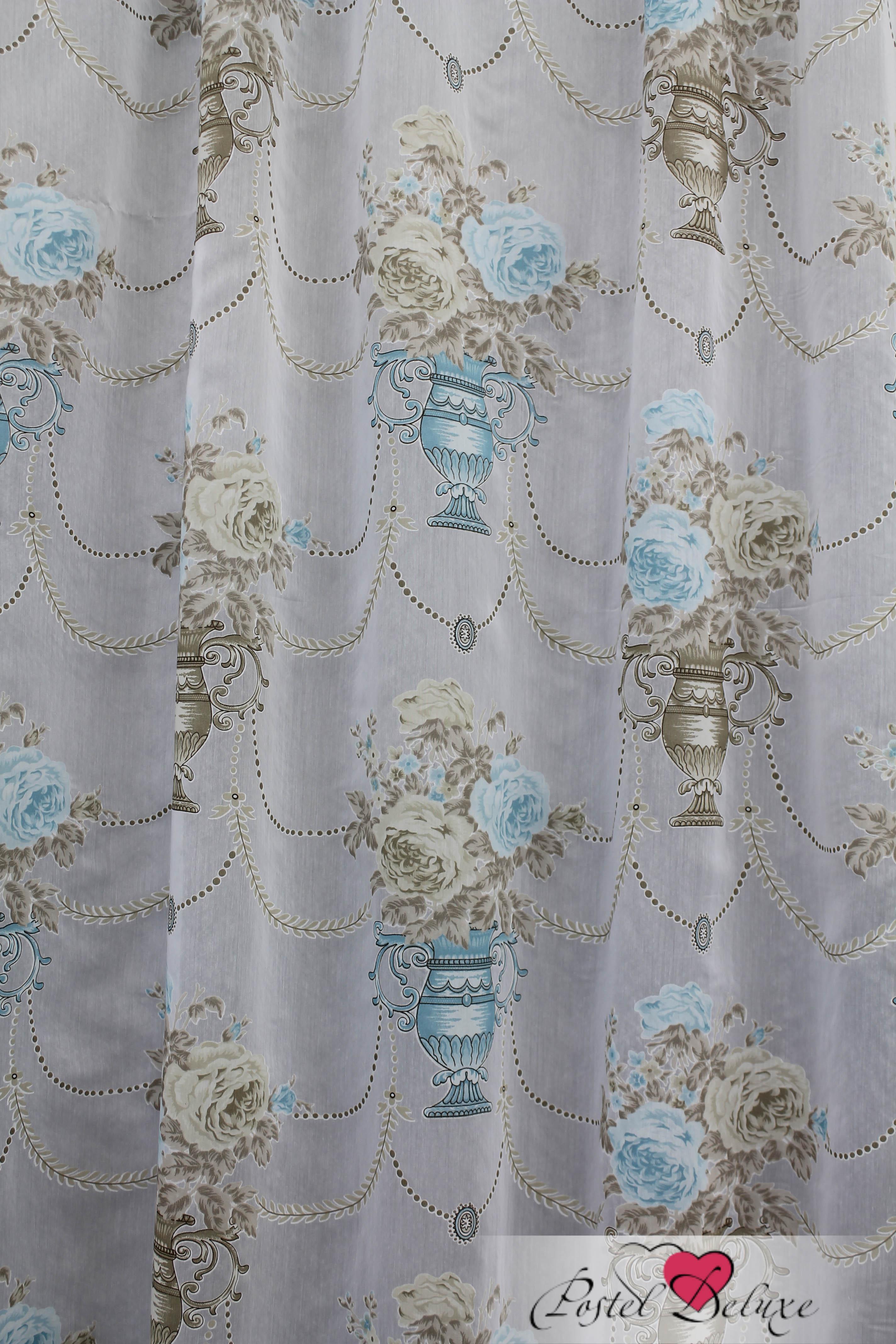 Шторы Sanpa Классические шторы Айсун Цвет: Бежево-Бирюзовый шторы tac классические шторы winx цвет персиковый 200x265 см
