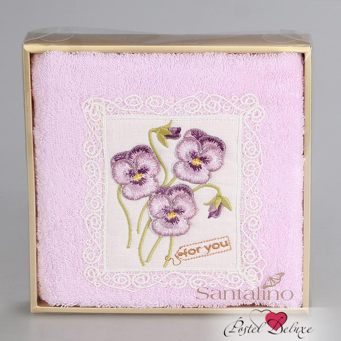 где купить Полотенца Santalino Полотенце Полевые Цветы 3D Цвет: Розовый (50х90 см) по лучшей цене