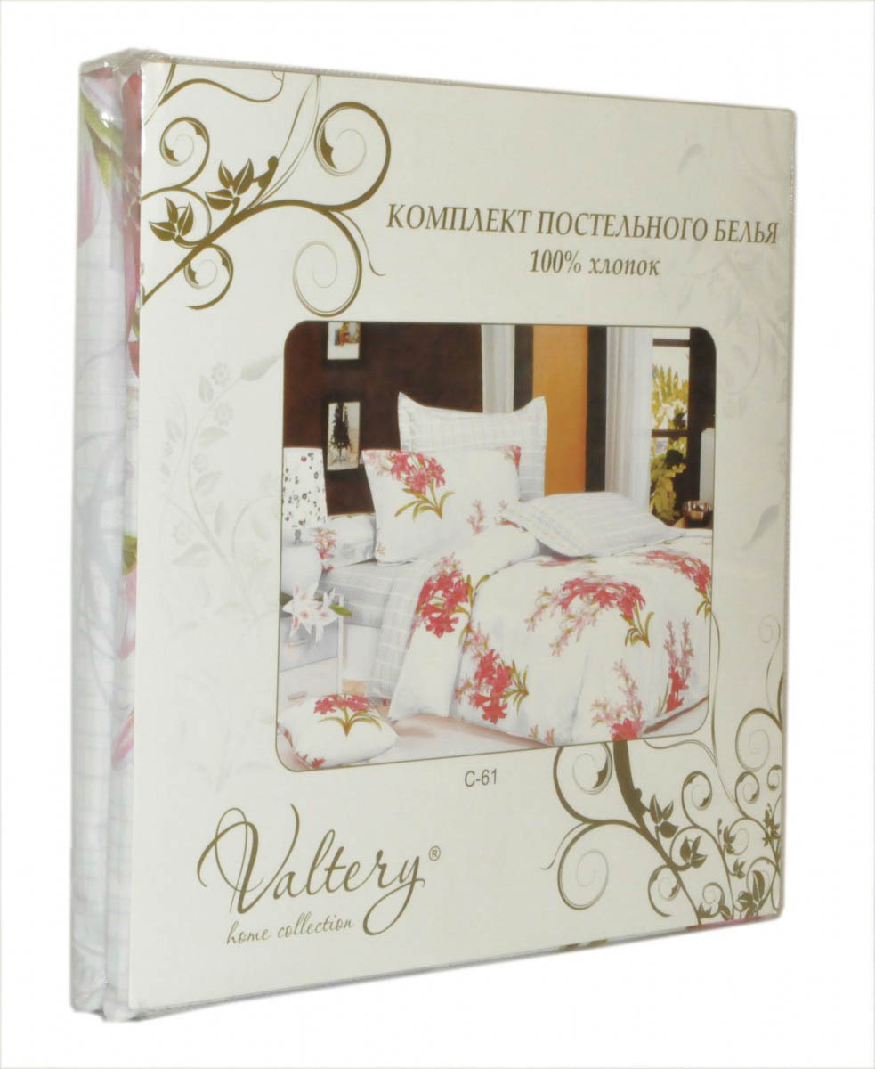 Постельное белье Valtery Постельное белье Florena (2 сп. евро) постельное белье адель шоколад евро