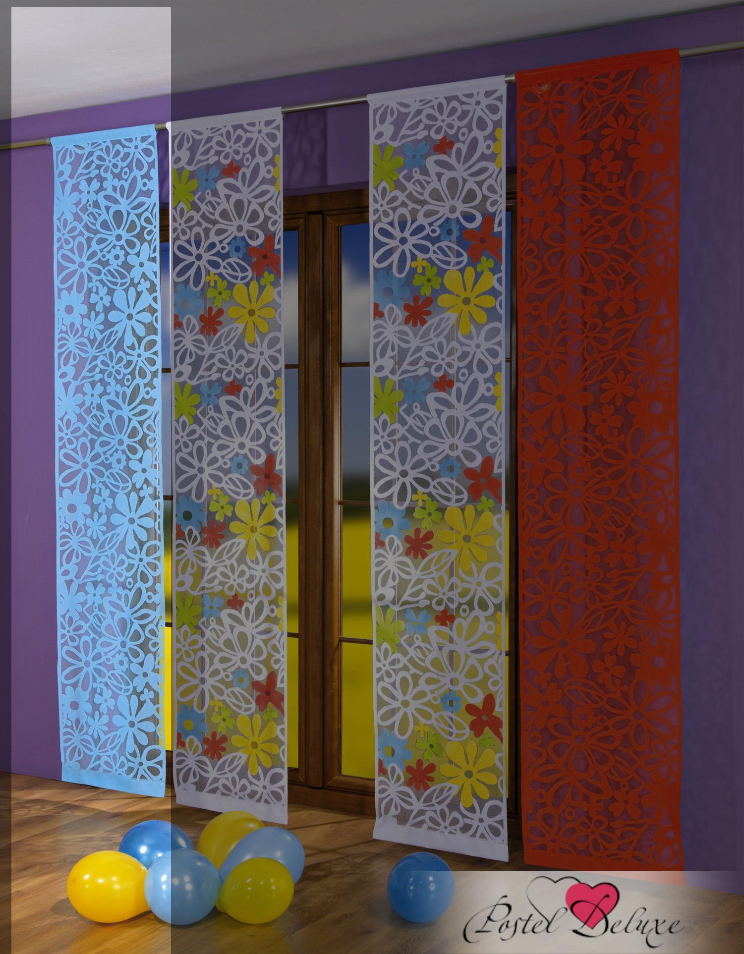 Шторы Wisan Японские шторы Pramyk Цвет: Голубой комплект штор для кухни wisan celina на ленте цвет белый оранжевый высота 180 см
