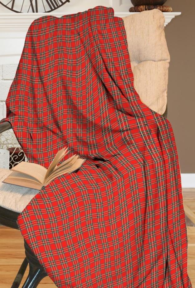 Покрывало Василиса Покрывало Шотландка (200х220 см)