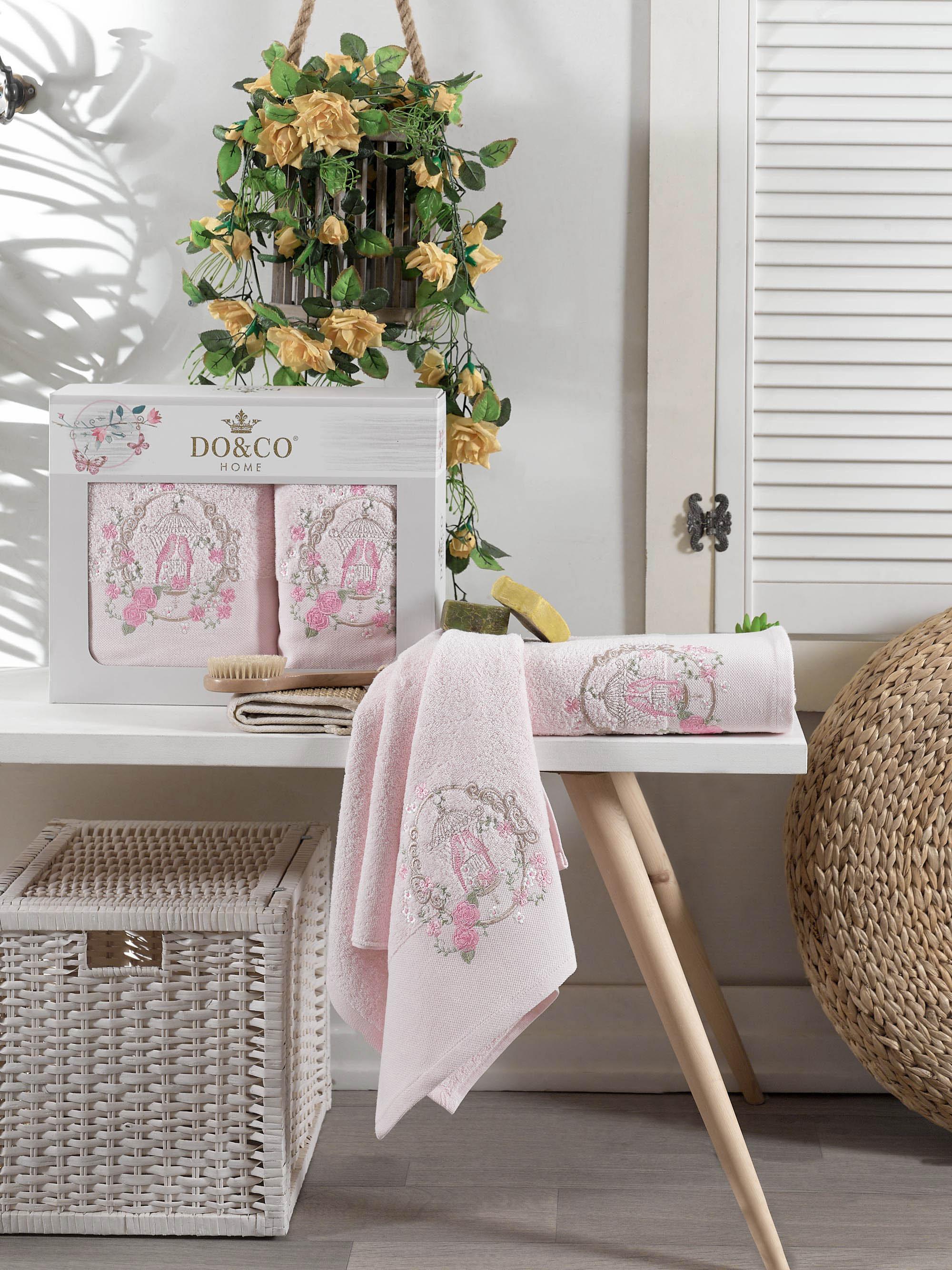 Полотенца DO'n'CO Полотенце Dalia Цвет: Розовый (50х90 см, 70х140 см) набор из 3 полотенец merzuka sakura 50х90 2 70х140 8432 оранжевый