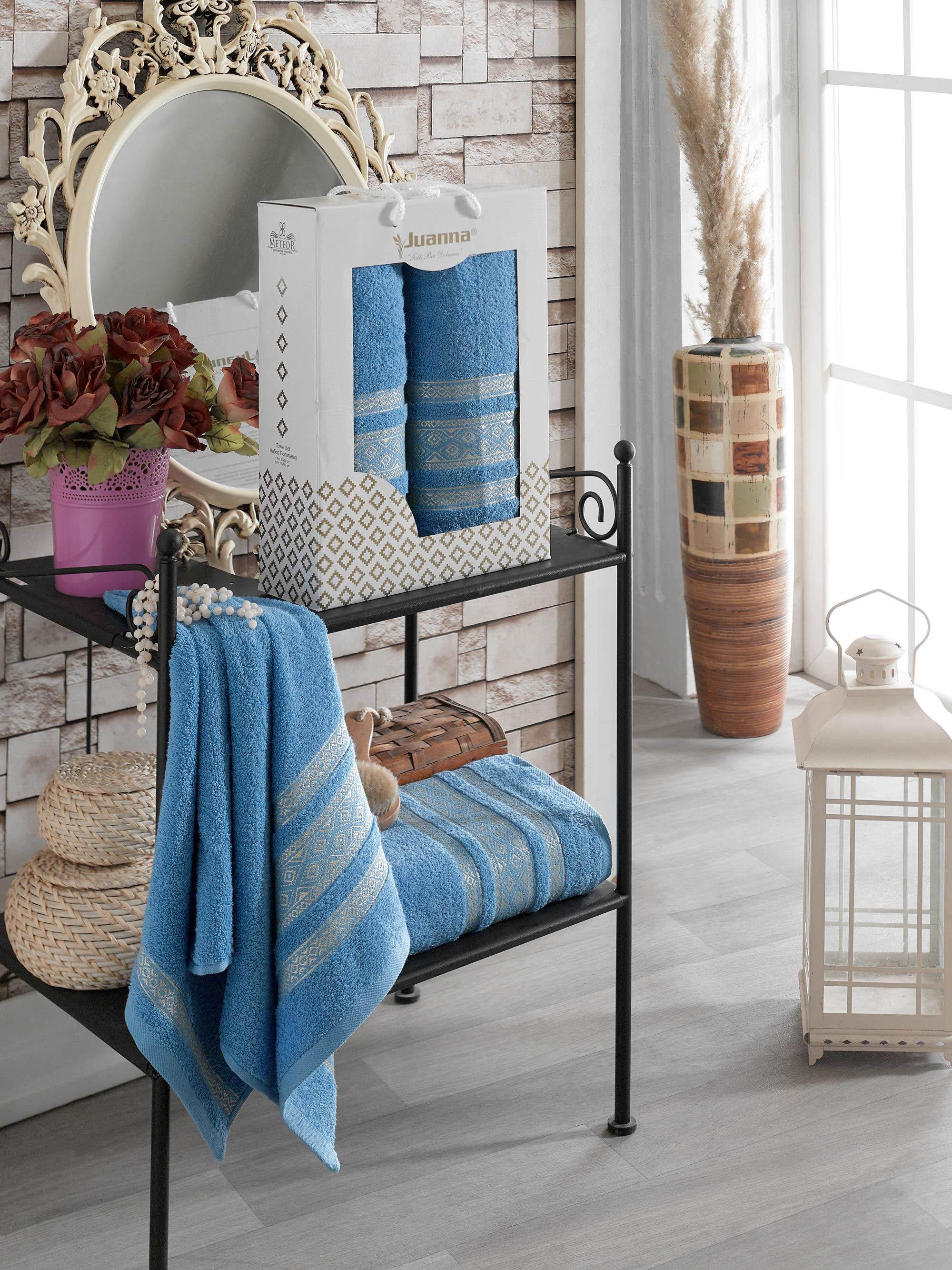 Полотенца Juanna Полотенце Kilim Цвет: Голубой (50х90 см,70х140 см) полотенца eleganta полотенце медаль цвет салатовый 50х90 см 70х140 см