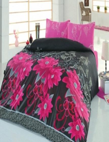 где купить Постельное белье Cotton Life Постельное белье Casablanca Цвет: Фуксия (2 сп. евро) по лучшей цене