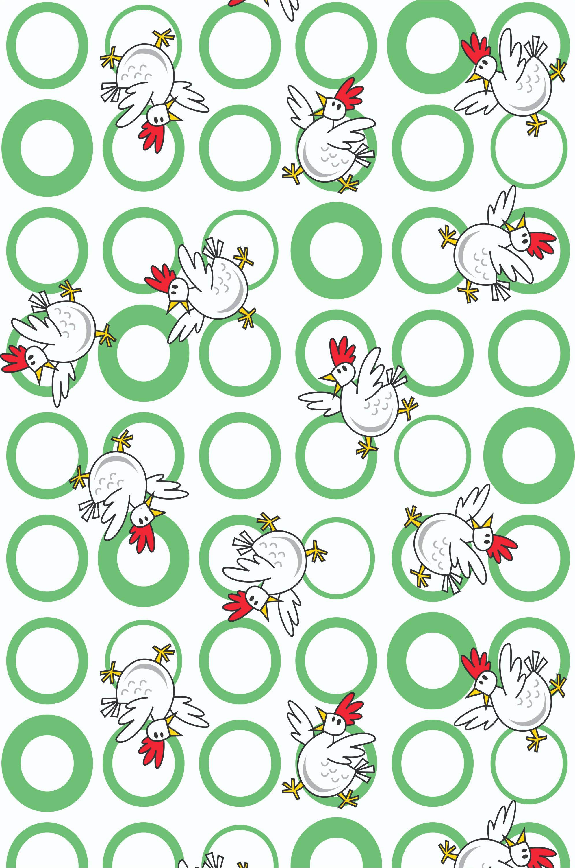 Шторы и карнизы для ванной StickButik Шторы для ванной Веселые Курочки карнизы