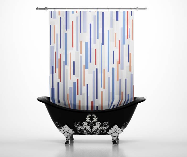 Шторы и карнизы для ванной StickButik Шторы для ванной Дождь шторы и карнизы для ванной stickbutik шторы для ванной подводный мир