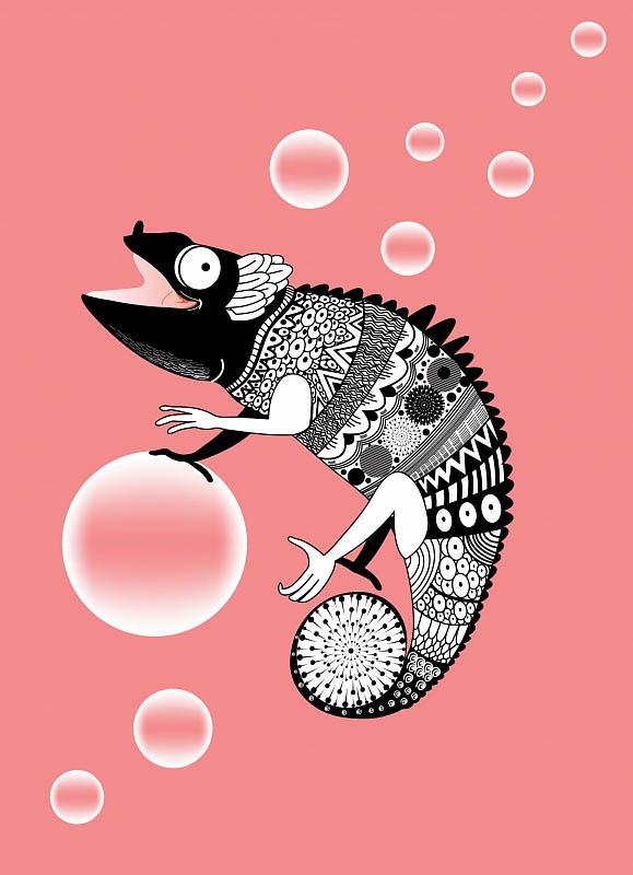 Шторы и карнизы для ванной StickButik Шторы для ванной Милый Хамелеон шторы и карнизы для ванной stickbutik шторы для ванной подводный мир