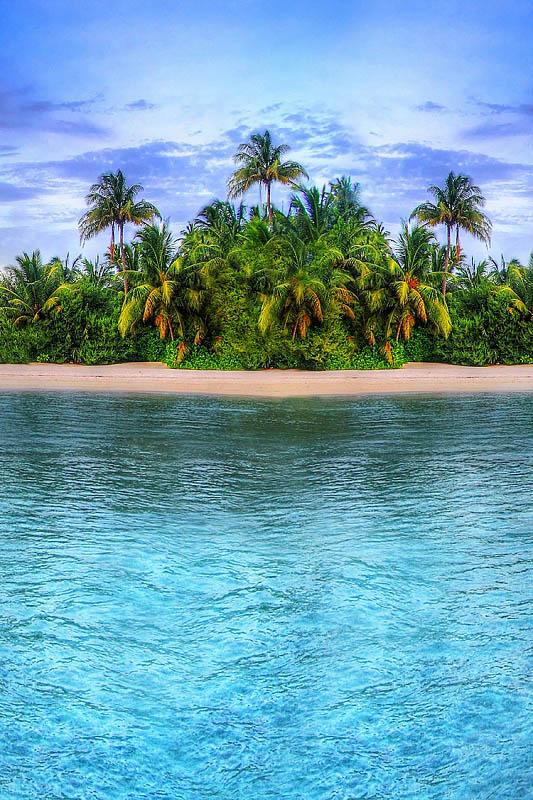 Шторы и карнизы для ванной StickButik Шторы для ванной Одинокий Остров шторы и карнизы для ванной stickbutik шторы для ванной подводный мир