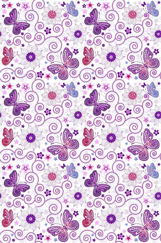 Шторы и карнизы для ванной StickButik Шторы для ванной Сиреневые Бабочки мягкие игрушки unimax детки бабочки бело сиреневые 17 см