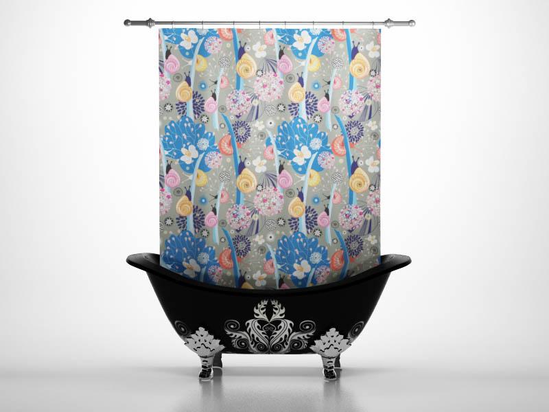 Шторы и карнизы для ванной StickButik Шторы для ванной Улитки шторы и карнизы для ванной stickbutik шторы для ванной подводный мир