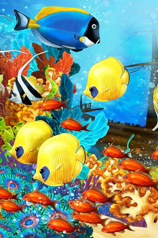 Шторы и карнизы для ванной StickButik Шторы для ванной Яркие Рыбки шторы и карнизы для ванной stickbutik шторы для ванной отдыхающий кит