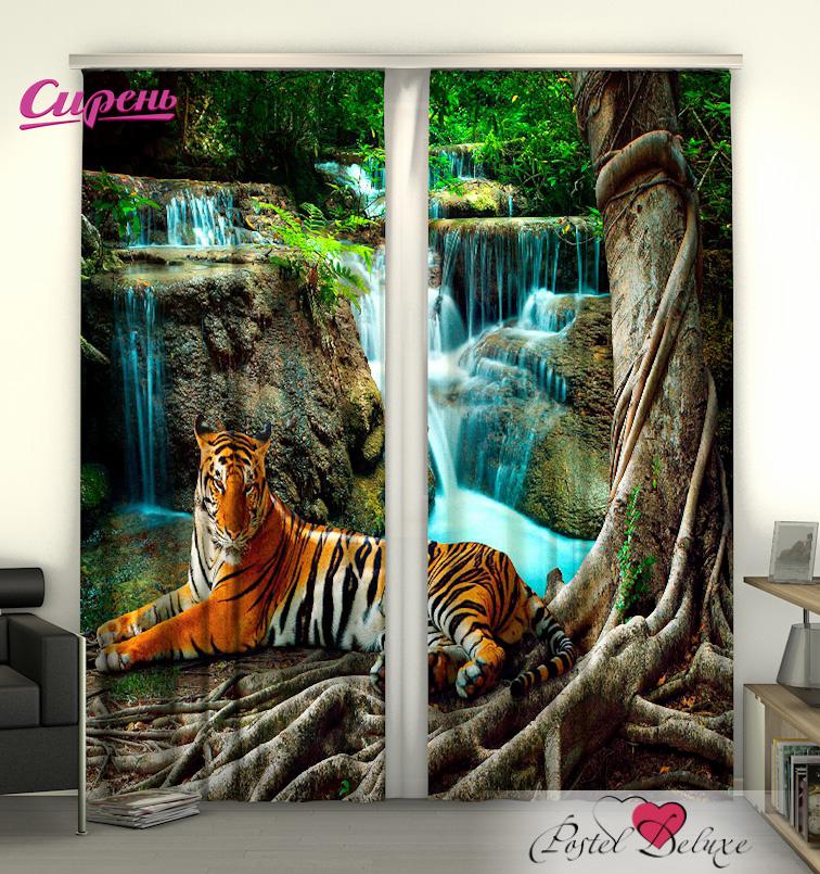 Шторы Сирень Фотошторы Индийский Тигр шторы сирень комплект фотошторы покрывало индийский тигр