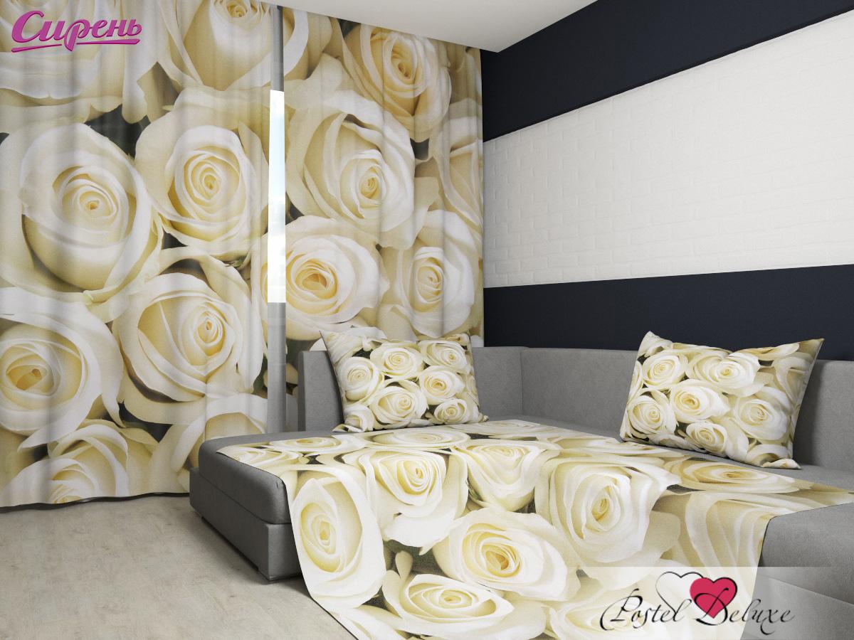 Шторы Сирень Комплект Фотошторы + Покрывало Душистые Розы шторы сирень комплект фотошторы покрывало цветочные мотивы