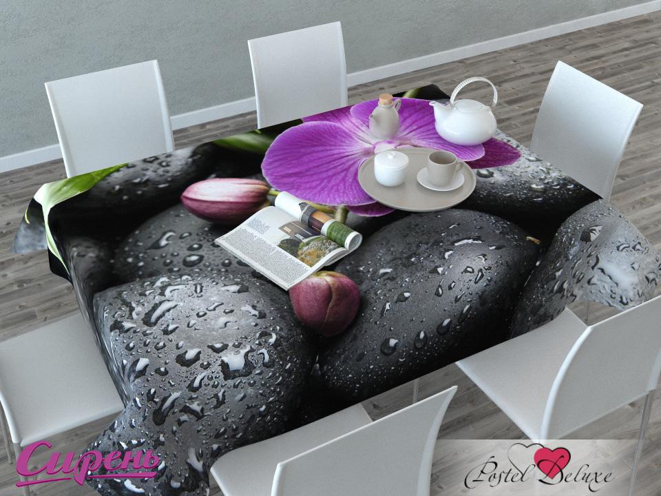 Скатерти и салфетки Сирень Скатерть Орхидея На Камнях (120х145 см)