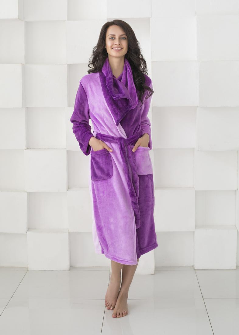 Домашние халаты Sleep iX Домашний халат HomySoft Цвет: Фиолетовый (L) плавки мужские lowry цвет черный фиолетовый msb 1 размер l 48