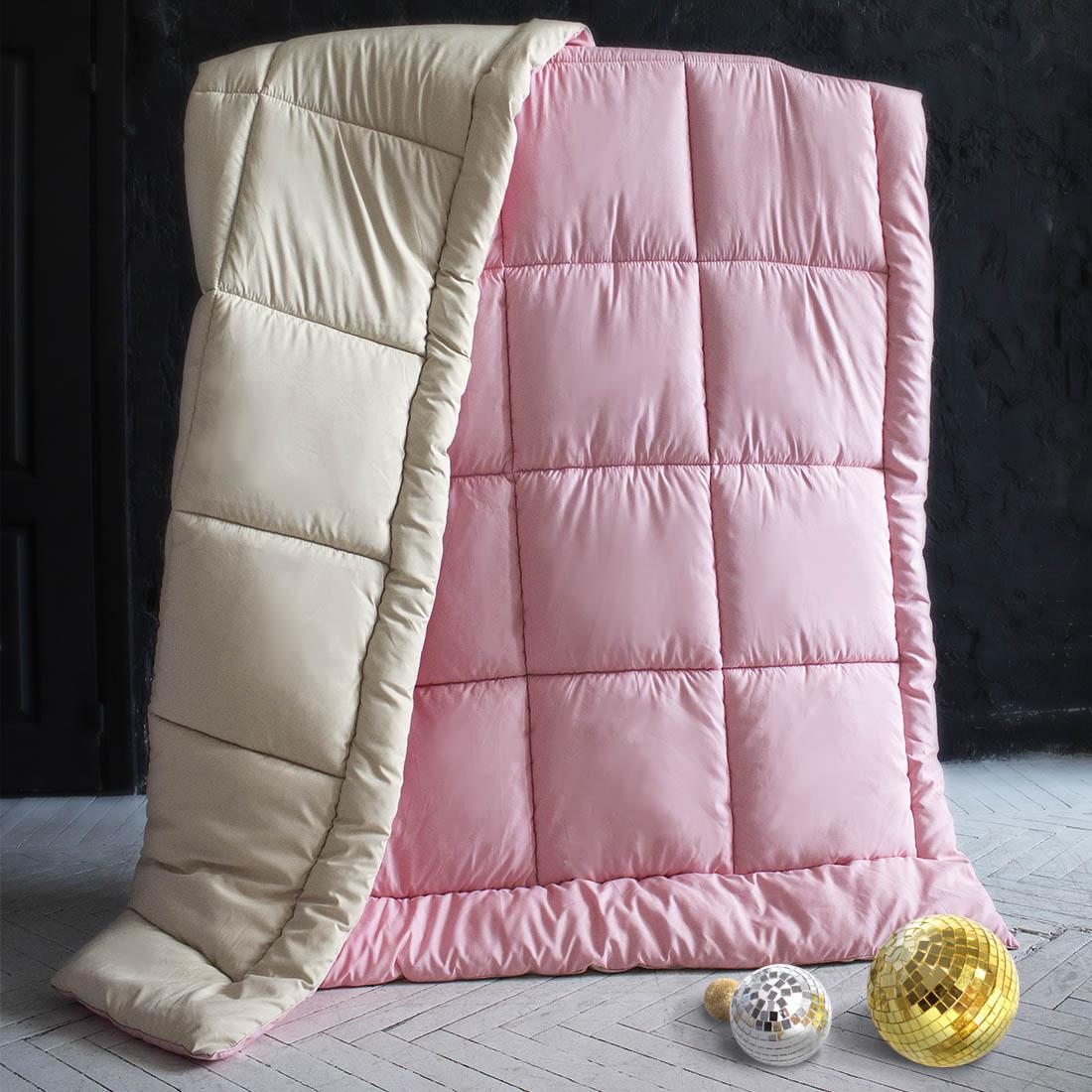Одеяла Sleep iX Одеяло MiltiColorЦвет: Бежевый/Розовый (140х205 см) одеяло лэмби цвет бежевый 140 х 205 см