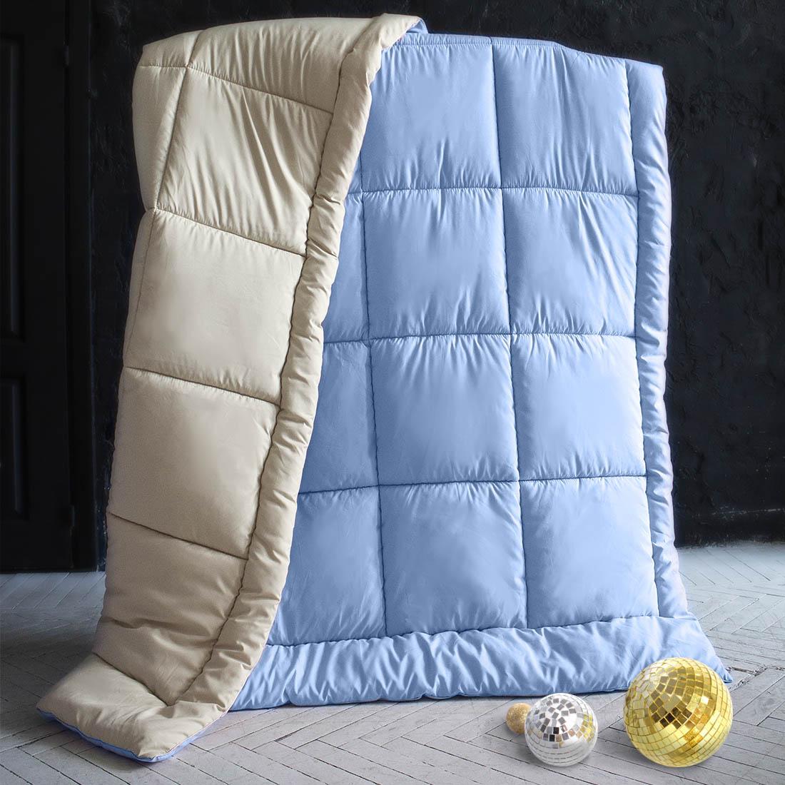 Одеяла Sleep iX Одеяло MiltiColorЦвет: Голубой/Бежевый (140х205 см) одеяло лэмби цвет бежевый 140 х 205 см