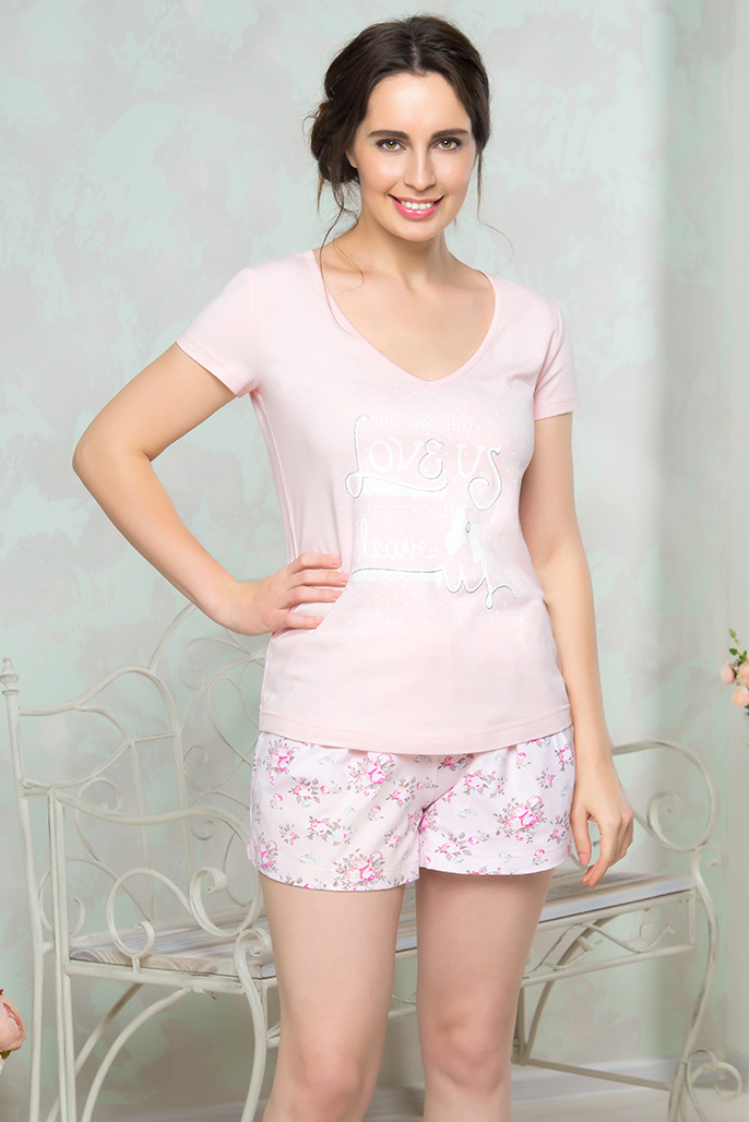 Пижамы Mia Cara Пижама Amey Цвет: Розовый (S-М) пижамы mia cara пижама paisley цвет розовый m l