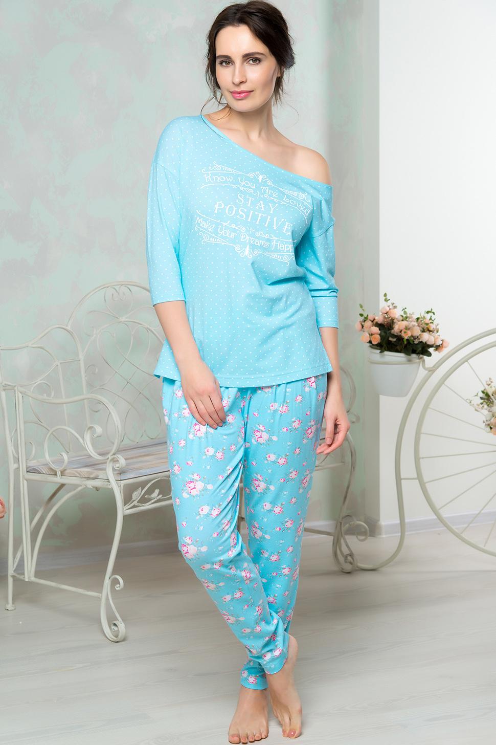 Костюмы для дома и отдыха Mia Cara Костюм для дома Kerensa Цвет: Голубой (xxL) пижама женская mia cara футболка шорты цвет розовый бежевый ss16 mcuz 293 размер 50 52