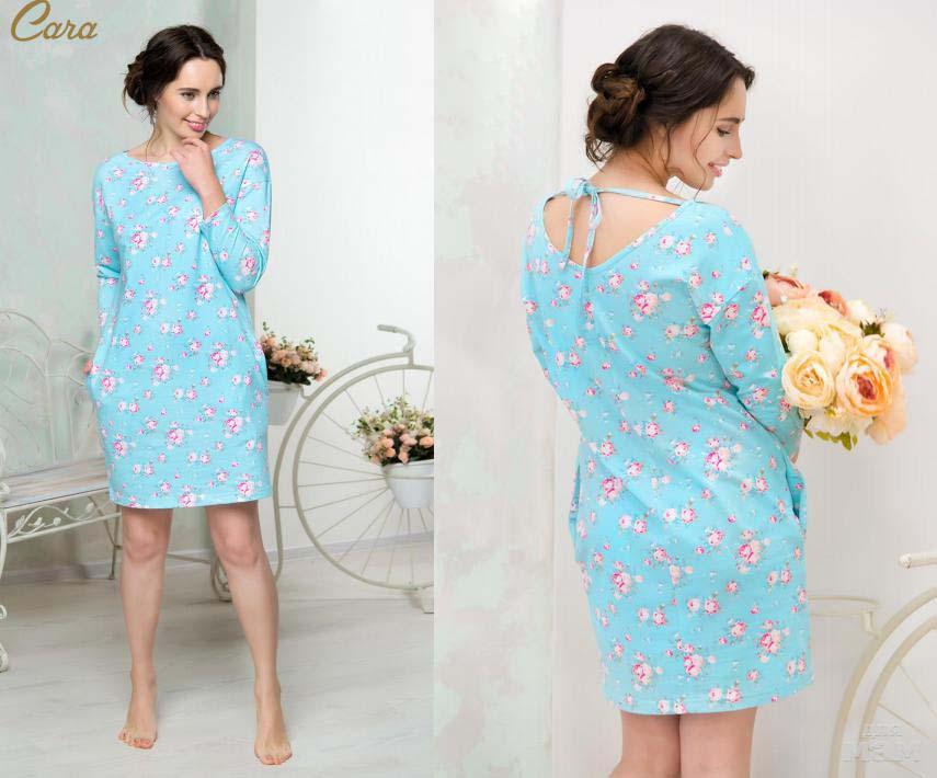 Туники, сарафаны Mia Cara Платье Millie Цвет: Голубой (xxxL) пижама женская футболка шорты mia cara portugal цвет розовый голубой aw16 mc 813 размер 50 52