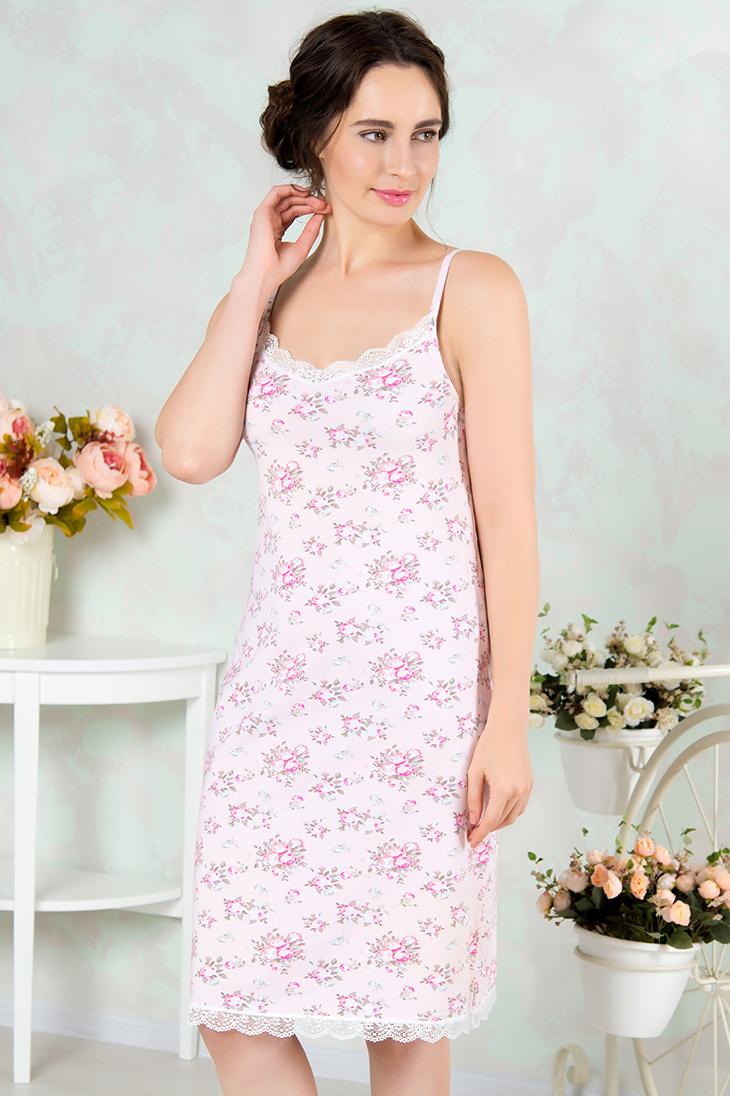 Ночные сорочки Mia Cara Ночная сорочка Ona Цвет: Розовый (S) пижамы mia cara пижама paisley цвет розовый m l