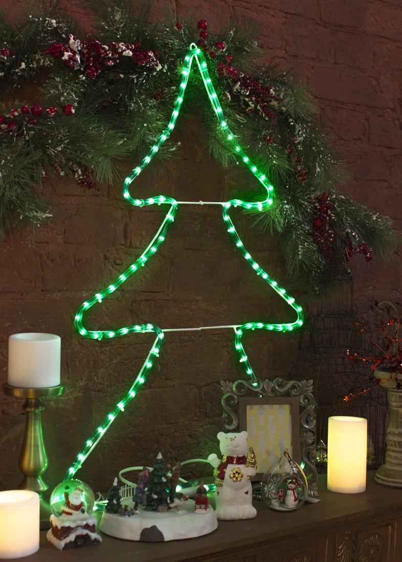 {}  Световая фигура Bellinda Цвет: Зеленый (32х48 см) световая фигура снеговички 37х45 см