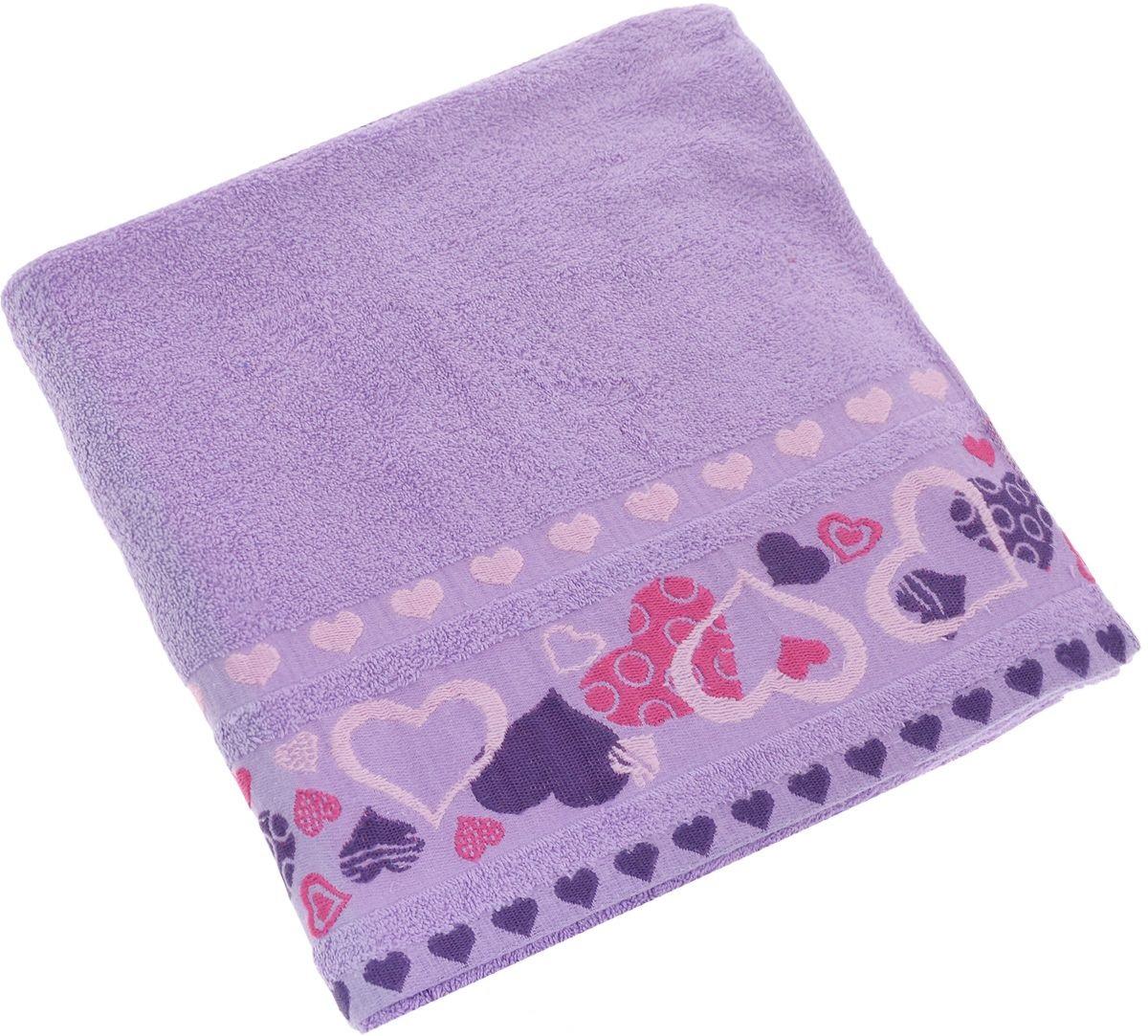 Полотенца Soavita Полотенце Сердце Цвет: Лиловый (70х140 см) полотенца soavita полотенце селсо цвет лиловый 70х140 см