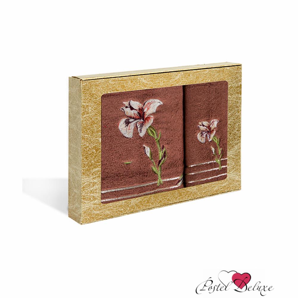 Полотенца Soavita Полотенце Iris Цвет: Коричневый (Набор) набор из 3 полотенец merzuka sakura 50х90 2 70х140 8432 оранжевый