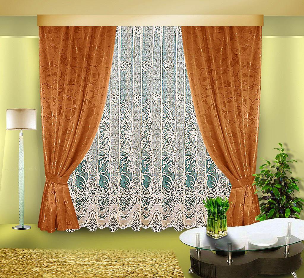 Шторы Elegante Классические шторы София Цвет: Бронзовый шторы tac классические шторы winx цвет персиковый 200x265 см