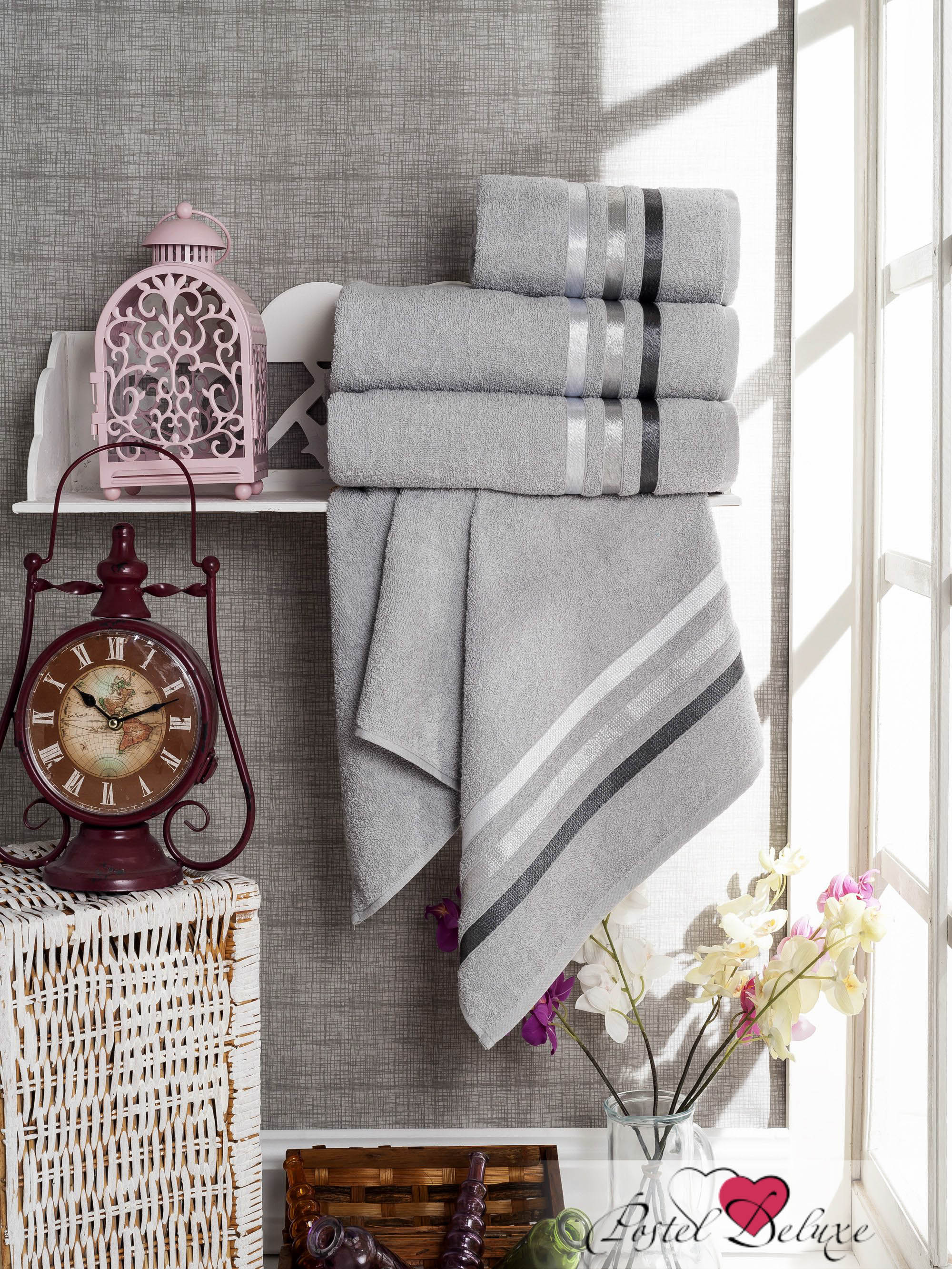 Полотенца Sokuculer Набор Полотенец Vevien Цвет: Серый полотенца кухонные la pastel набор полотенец 4 предмета из микрофибры 30х30