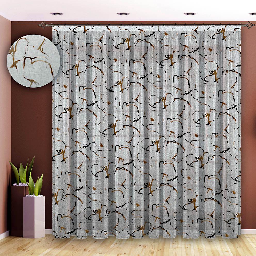 Шторы РеалТекс Классические шторы Караван Цвет: Коричневый шторы реалтекс классические шторы alberta цвет персиковый молочный
