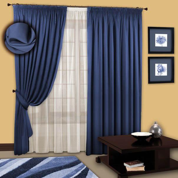 Шторы РеалТекс Классические шторы Ньюз Цвет: Синий шторы реалтекс классические шторы alberta цвет персиковый молочный