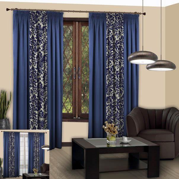 Шторы РеалТекс Классические шторы Фьюжн Цвет: Синий шторы tac классические шторы winx цвет персиковый 200x265 см