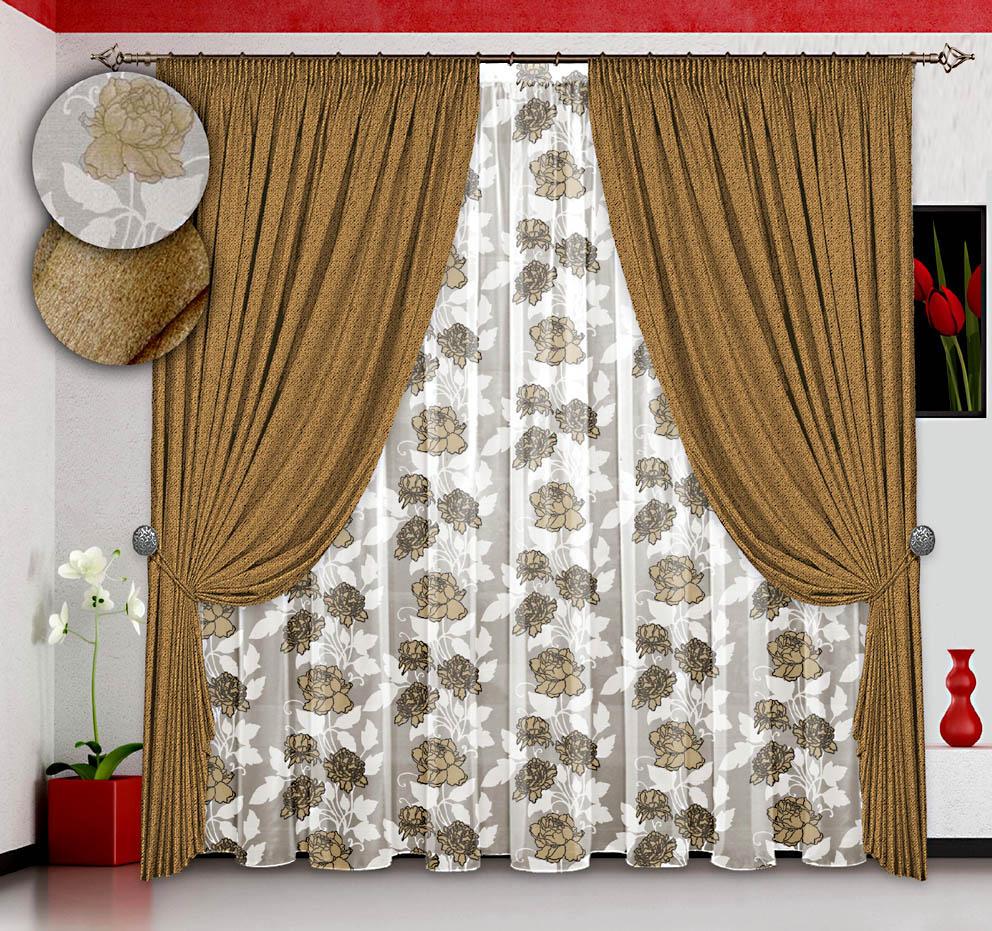 Шторы РеалТекс Классические шторы Профекс Цвет: Золото шторы primavera классические шторы maev цвет персиковый