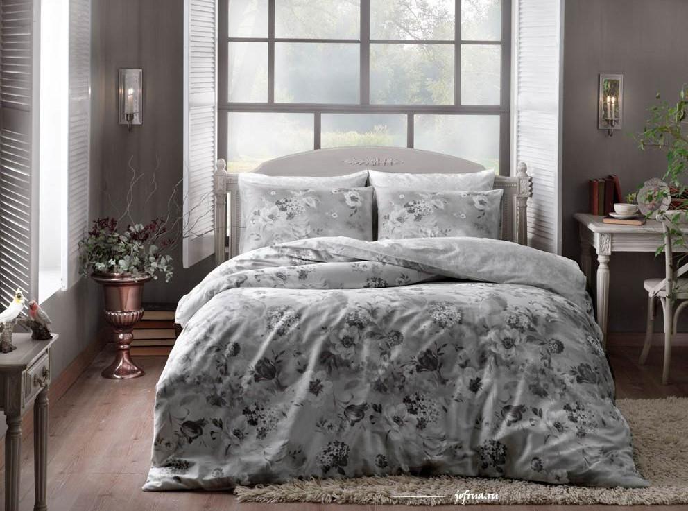 Постельное белье TAC Постельное белье Allure Цвет: Серый (семейное) постельное белье tac в спб