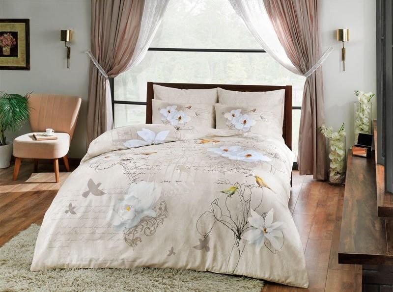 Постельное белье TAC Постельное белье Brenna Цвет: Бежевый (1,5 спал.) постельное белье tac в спб