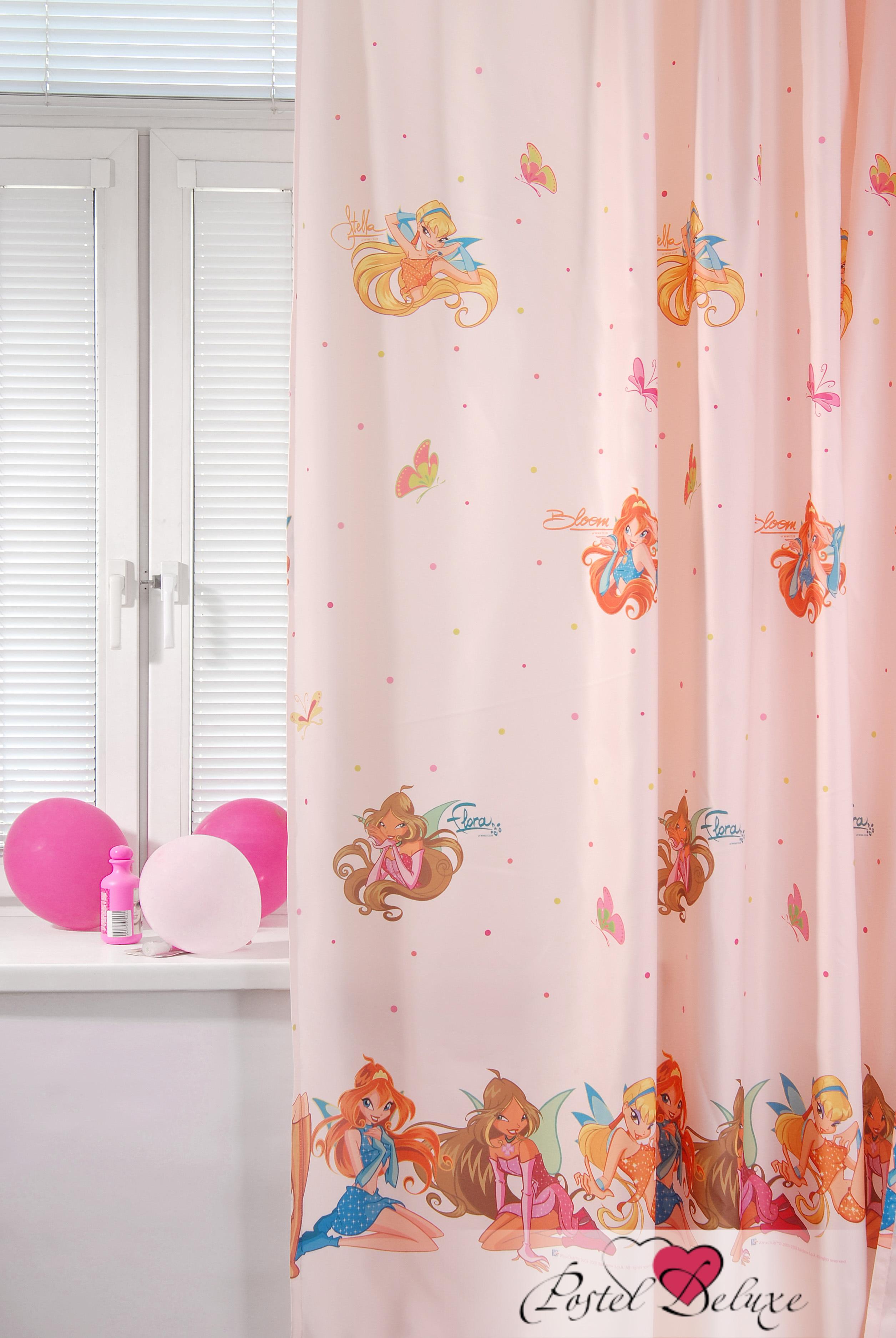Шторы TAC Классические шторы Winx Цвет:  Персиковый (200x265 см.) штора портьерная детская tac винни радуга 200x265 персиковый gs0022