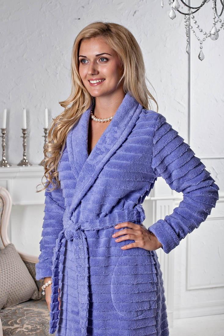Сауны, бани и оборудование Five Wien Халат Tiffany Цвет: Фиалка (S-M) купить шелковый халат мужской спб