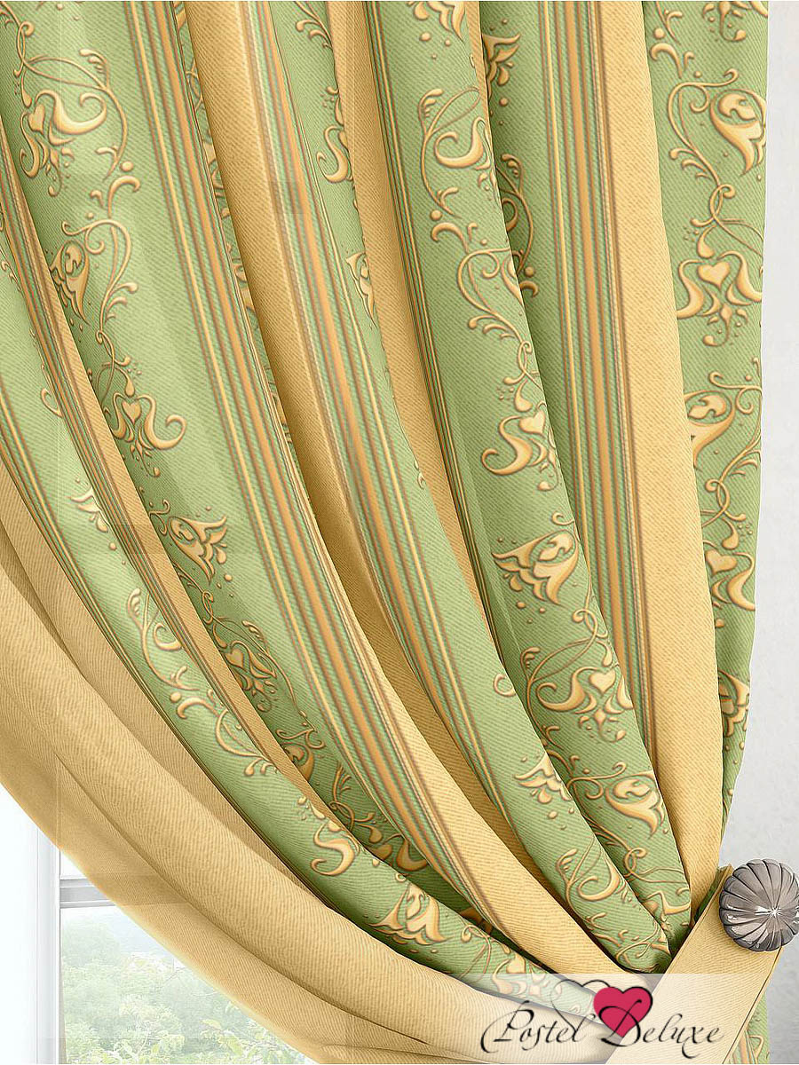 Шторы ТомДом Классические шторы Лекс Цвет: Зеленый